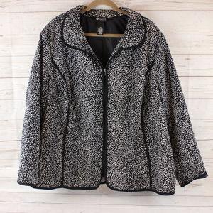 Maggie Barnes 3X 26 28 Quiled Zip Jacket Coat